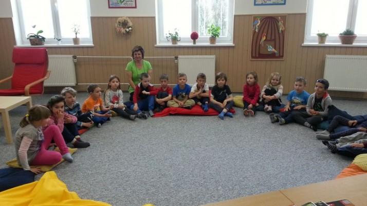 Předškoláci na návštěvě knihovny v ZŠ