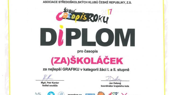 Vynikající úspěch našich žáků s časopisem (Zá)školáček