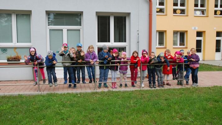 Vzácná návštěva ve školce – galerie
