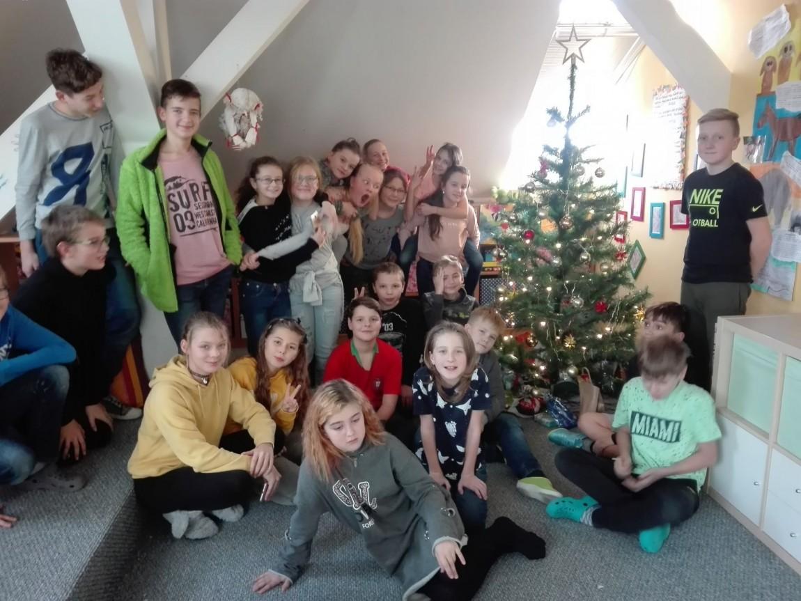 Vánoční besídka ve školním klubu