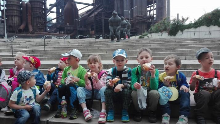Děti mateřské školy na výletě v Dětském světě techniky v Ostravě