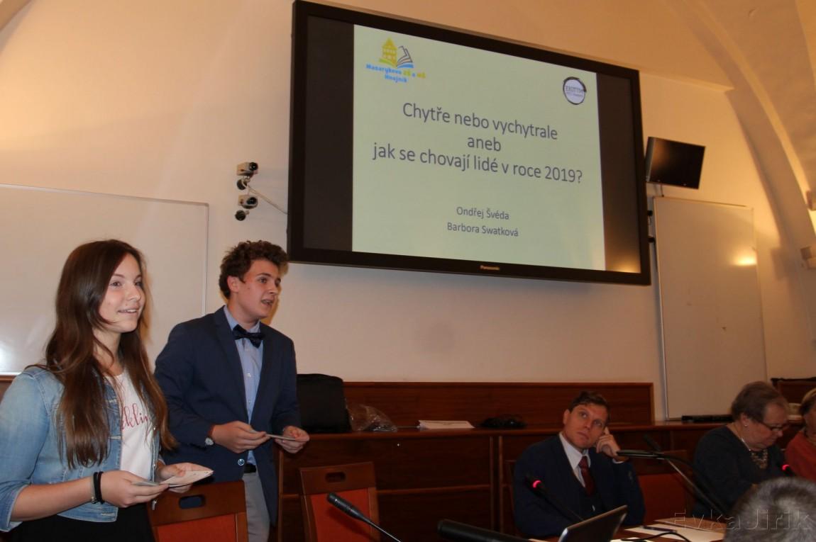 Naši mladí ekologové prezentovali na MŠMT v Praze