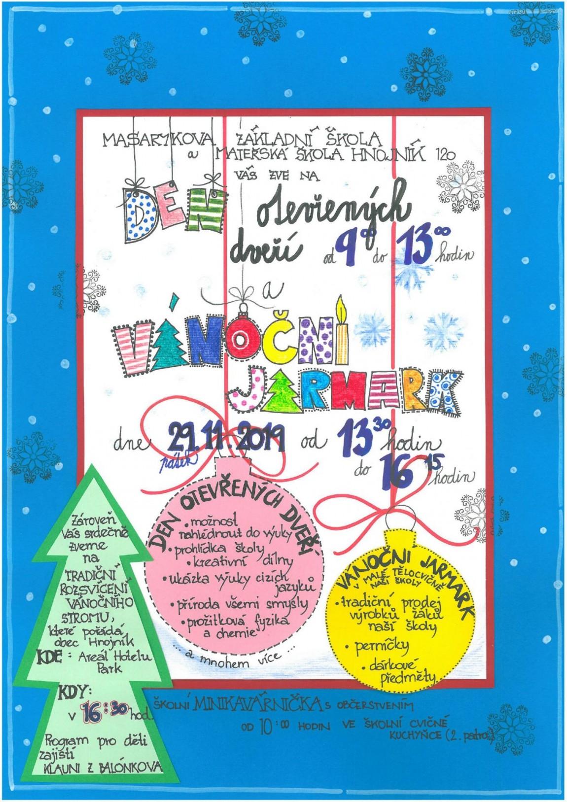 Den otevřených dveří a vánoční jarmark