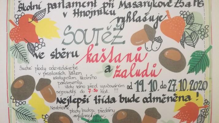 Soutěž ve sběru kaštanů a žaludů