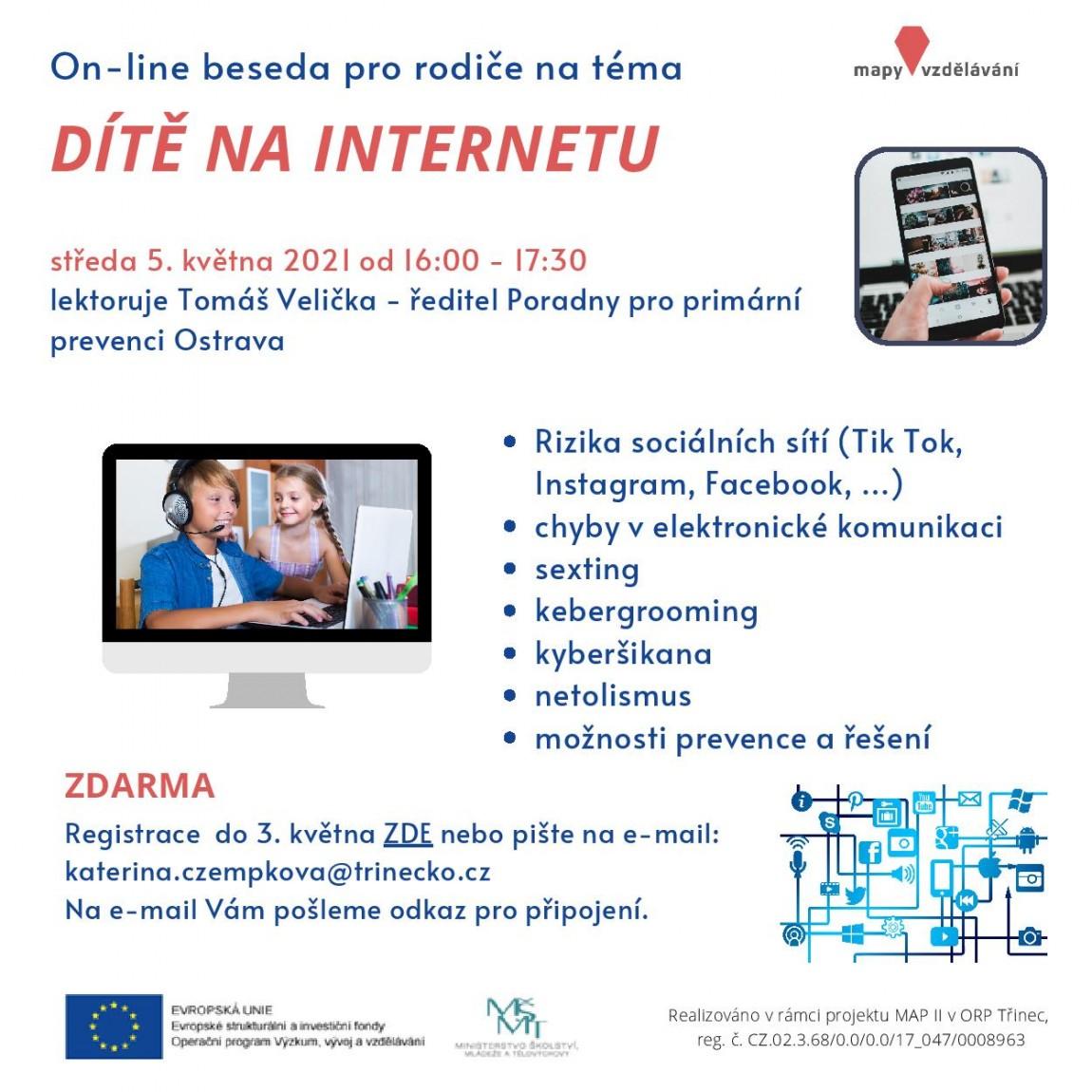 On-line beseda – Dítě na internetu